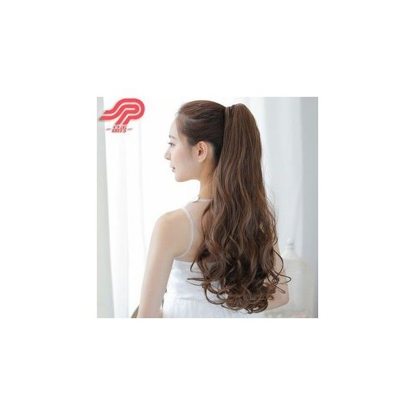 Claw Clip Ponytail - Wavy (51 BRL) ❤ liked on Polyvore featuring accessories, hair accessories, hair and wig
