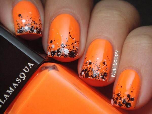 Nail Loopy Illamasqua Gamma Chalk Dust Gradient October Nails Orange Nail Polish Orange Nails