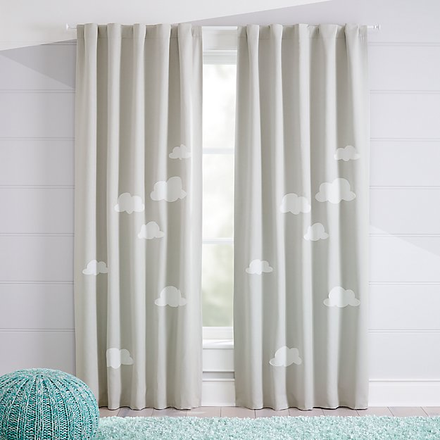 Cloud Blackout Curtains Crate And Barrel In 2020 Cool Curtains Kids Room Curtains Kids Curtains