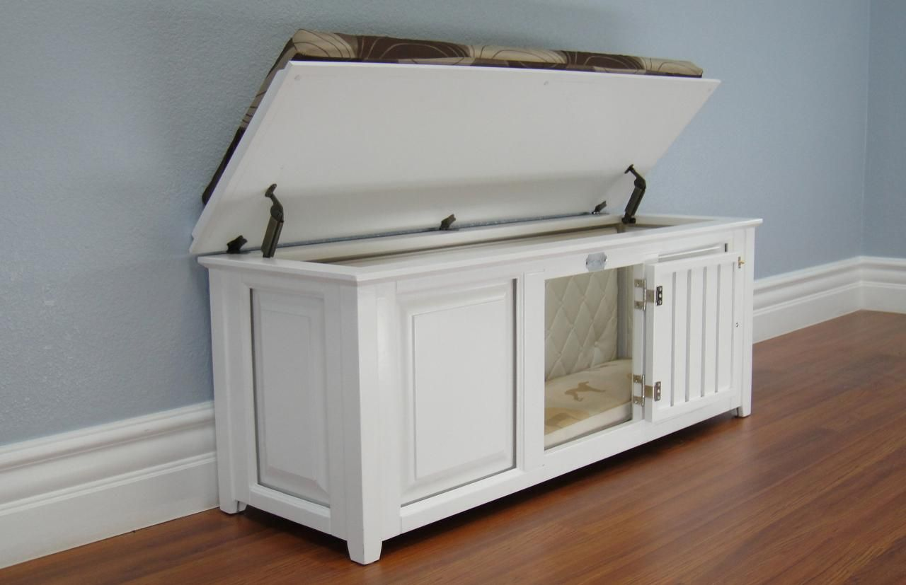 Dog Crate And Bench Dog Crate Furniture Dog Crate Dog Kennel Furniture