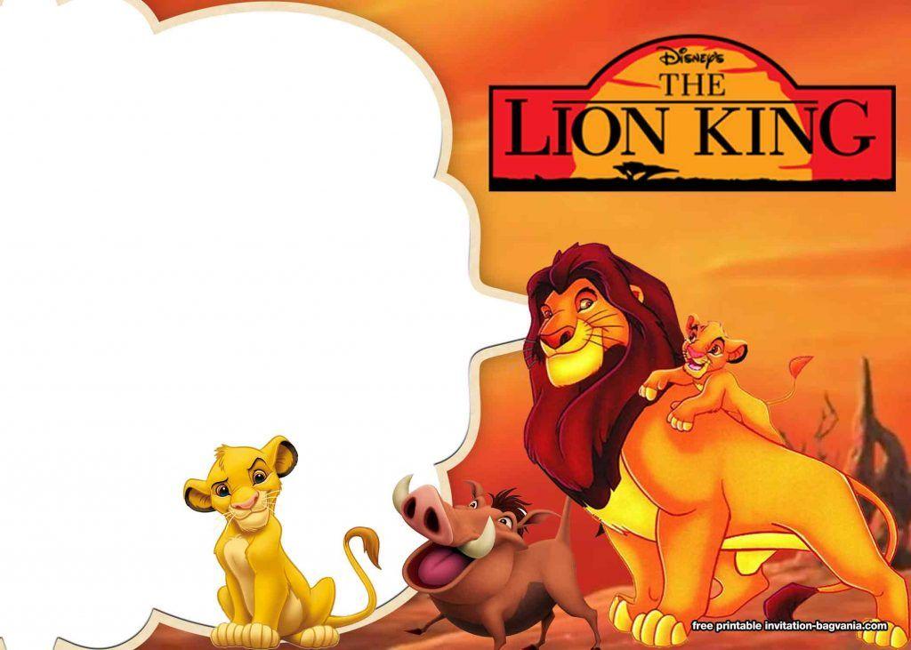 8 Free Printable Lion King Invitation Templates Lion King Birthday Lion King Lion King Invitation