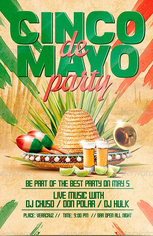 cinco de mayo party flyer poster template nice ad pinterest