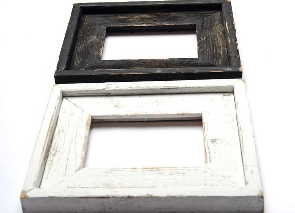 Set Of Two 8x10 Stacked Rustic Barnwood Distressed Rustic Picture Frame Farmhouse Distressed Frame Black White Distressed Frames Rustic Picture Frames Rustic Frames