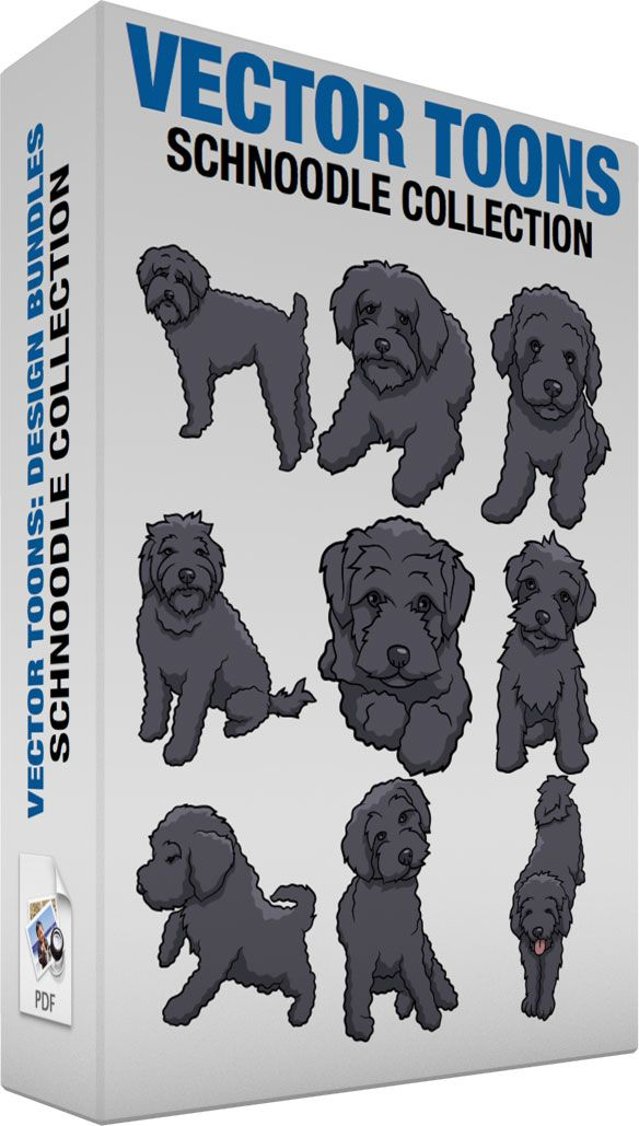 Schnoodle Collection Schnoodle Dog Cartoon Clip Art