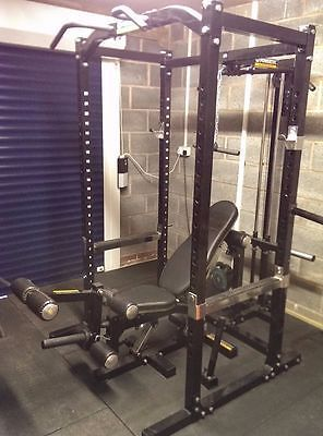 Home Gym With Powertec Workbench Power Rack Cage Bench