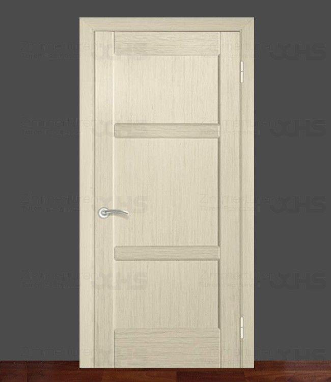 Zimmertür Zarge Holzzarge Eckig Landhaus Massivholz Stumpf Einschlagend  Eckdesign Vision 14 Eiche Weiß