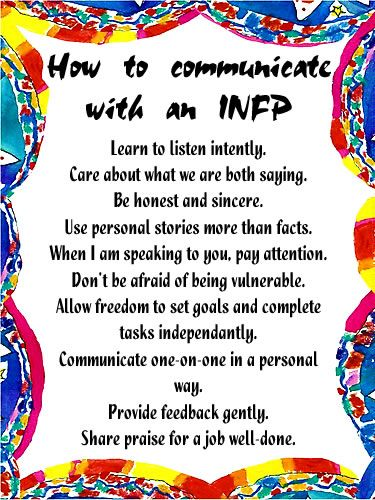 How to communicate with an #INFP