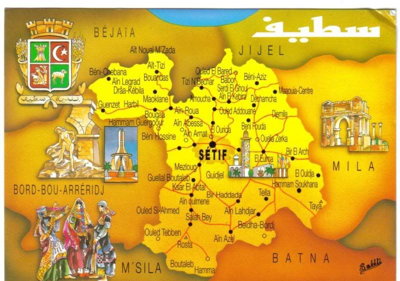 setif algeria ALGERIA Pinterest Map illustrations