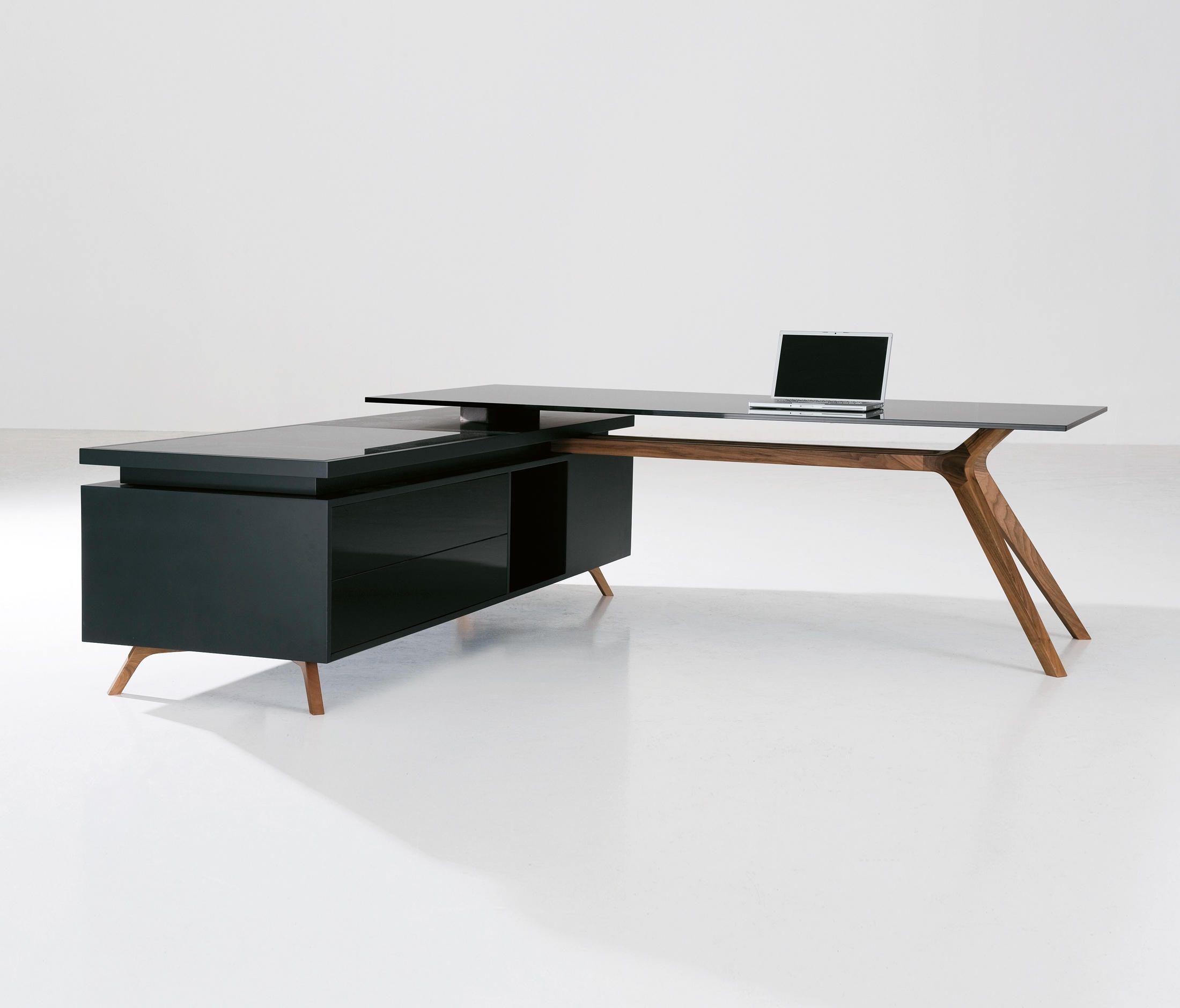 Desk Walnut Solid Wood Wood Veneer Or Glass Tops Service Units