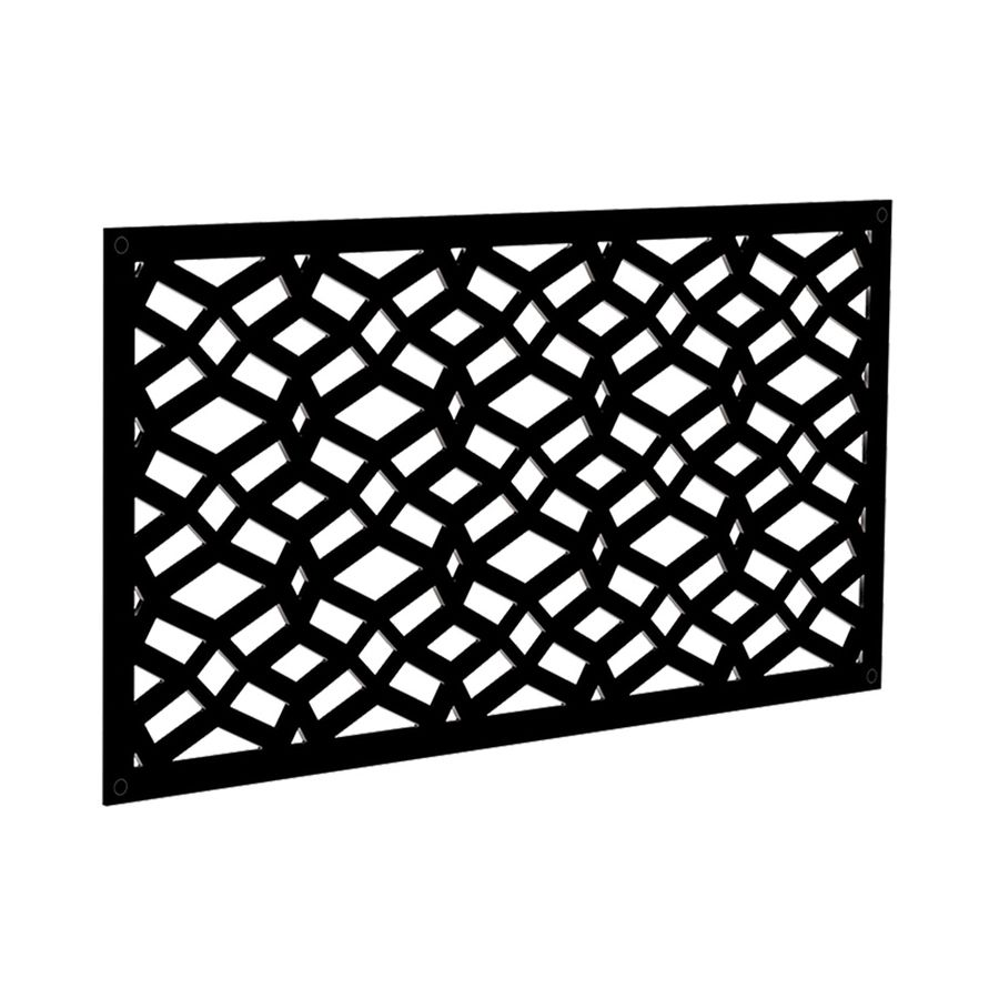 Freedom Common X 24 In X 4 Ft Actual 0 3 In X 23 875 In X 3 989 Ft Celtic Black Vinyl Decorative Screen Panel Lowes Com Decorative Screen Panels Decorative Screens Vinyl Railing