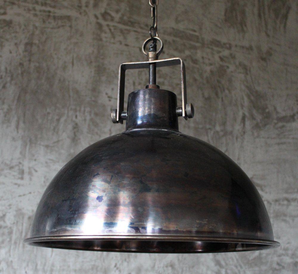 Hänge Lampe Ø40 cm Alte Industrielampe Vintage Loftlampe Fabrik ...