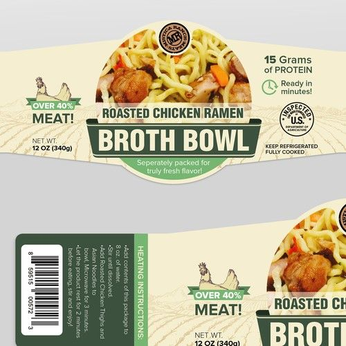 Label Design Needed For New Broth Bowl We Are A