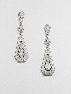 Adriana Orsini - Pave Linear Framed Drop Earrings