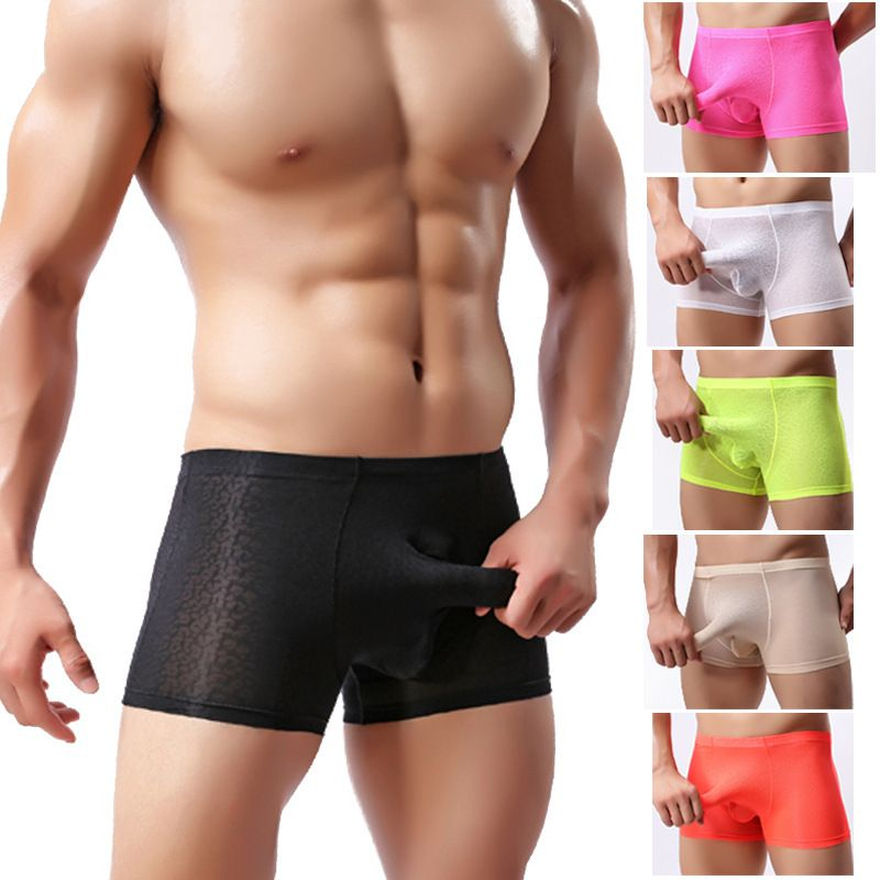 9bd85facf0779e Sexy Lace Men'S Underwear Bulge Pouch Trunks Boxer Briefs Soft Shorts  Underpants. Buy Eleventy Men's Brown Polyester Trunks at online store