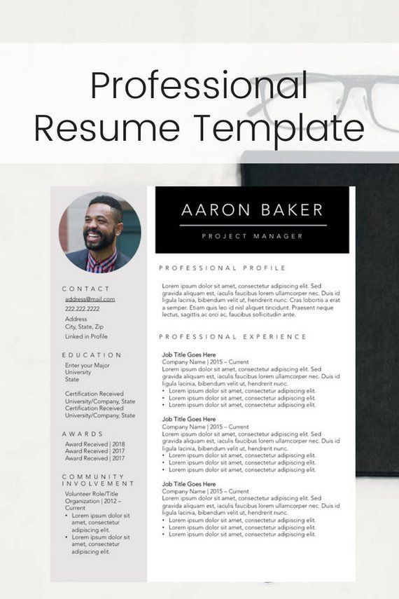 Simple Resume Template with Photo Clean Resume Design Two Page