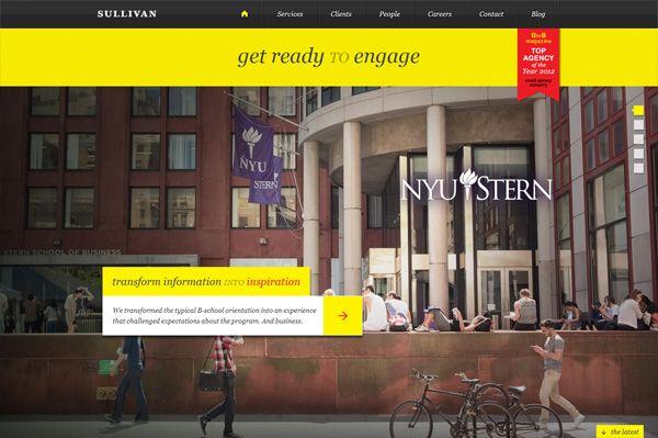 Photo background web design example: Sullivan NYC