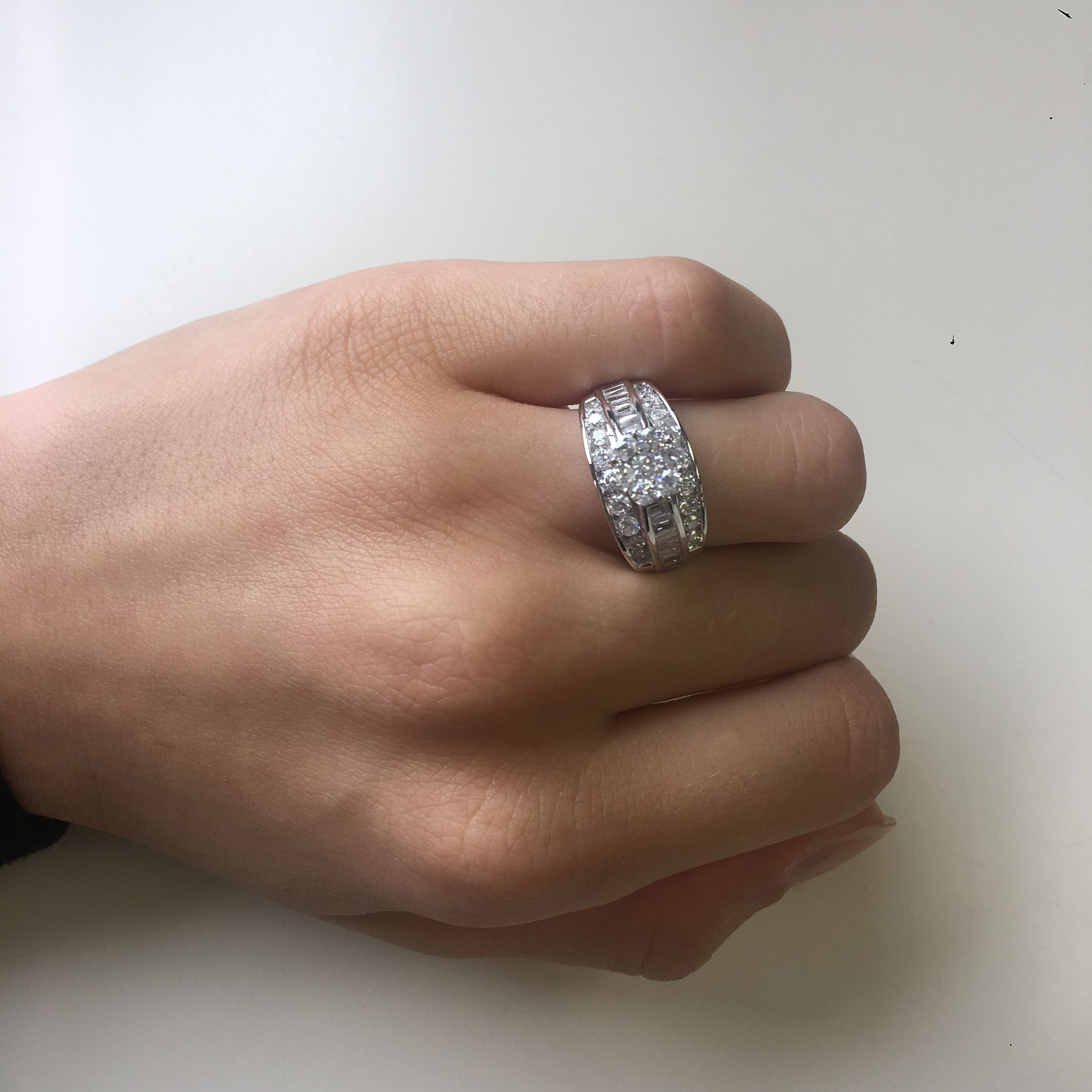 This Matching 1 5 8 Carat T W Diamond Ladies Engagement Ring Is Made In 10k White Gold An Diamond Cluster Engagement Ring 14k Engagement Ring Engagement Rings