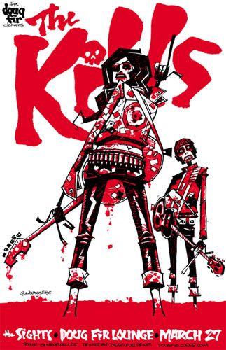 Guy Burwell. Rock Poster.// nossa amei mil vezes este poster. onde compra ??rs