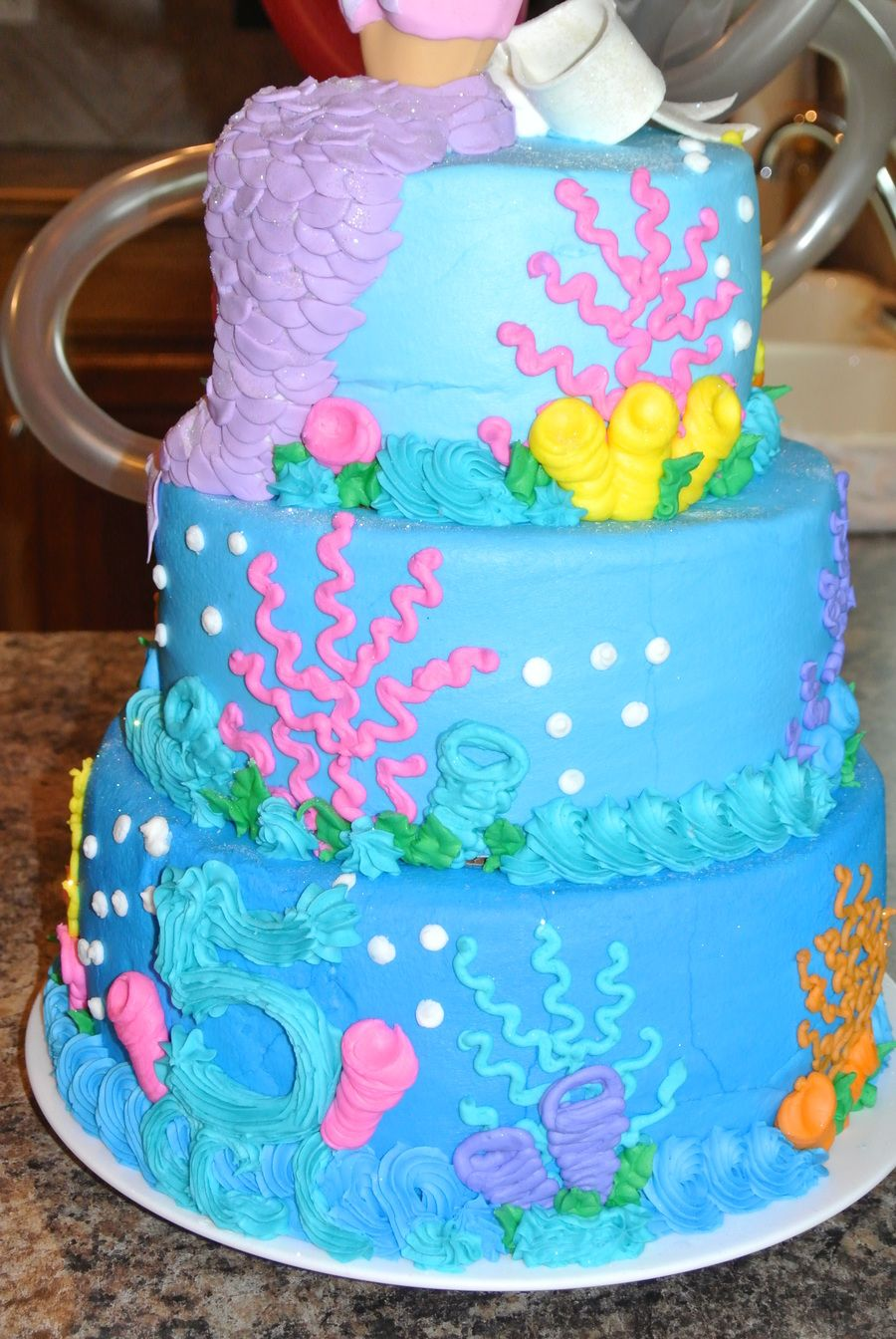 Barbie Mermaid On A Tiered Cake Projects To Try