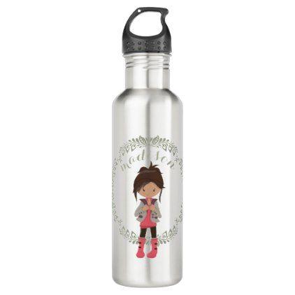 Trendy Girly Avatar Stainless Steel Water Bottle Zazzle Com Bottle Bottles Decoration Water Bottle