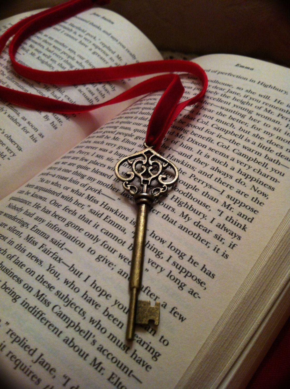 Vintage style Skeleton Key Ribbon Bookmark Ribbon
