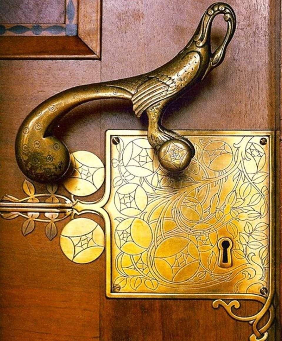 Art Deco Solid Brass Door Handle 1920 1930 Brass Door Handles Brass Door Door Handles