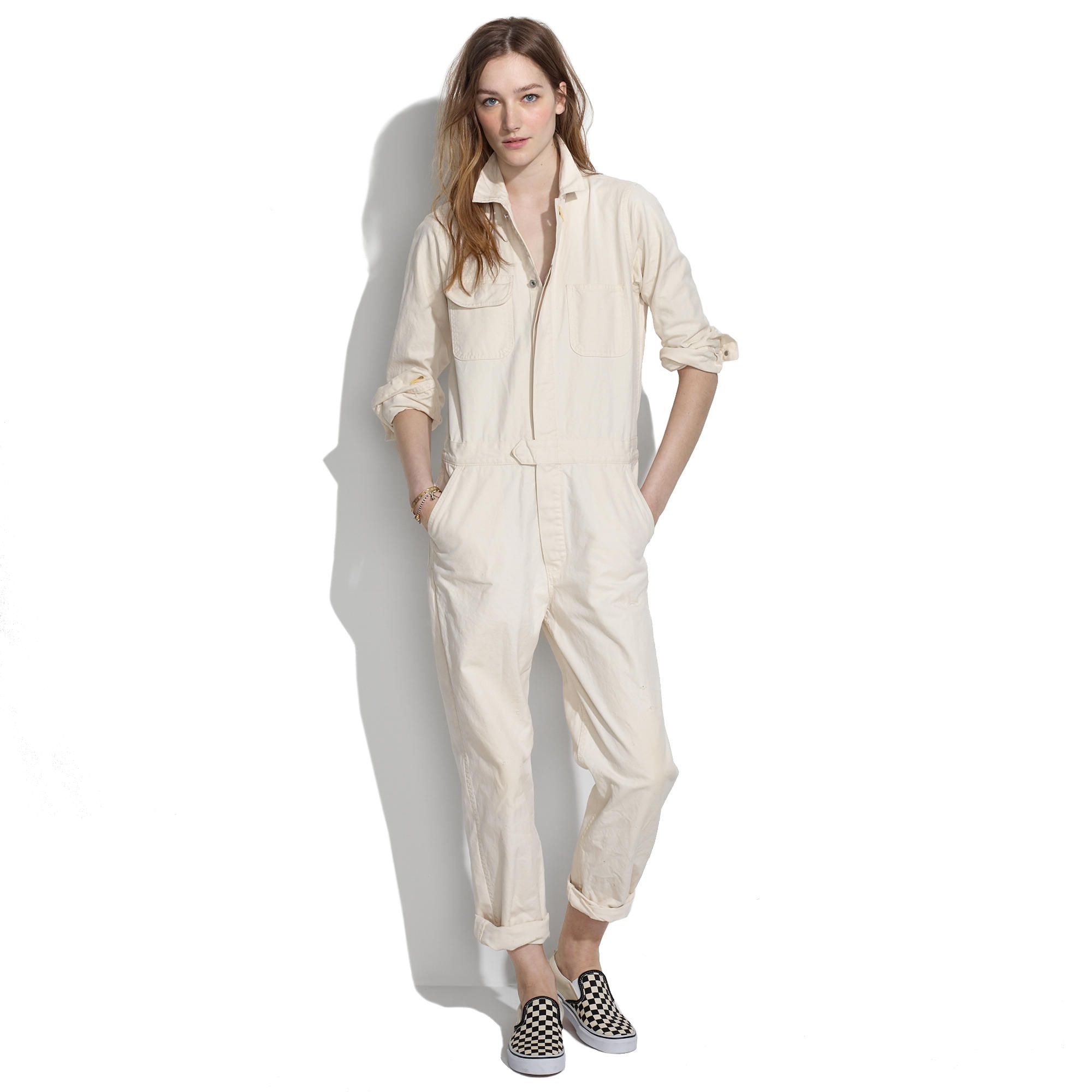 56ae9acaaea Denim off-white painters  jumpsuit by CHIMALA from Japan