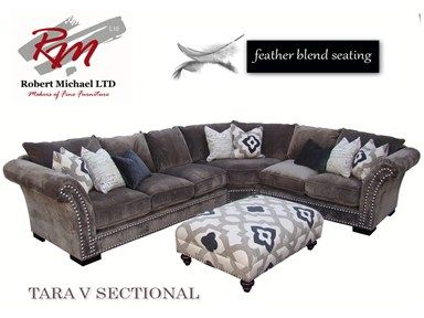 For Robert Michaels Sectional Style Tara V And Other Living Room Sectionals At Furniture Plus Inc In Mesa Az
