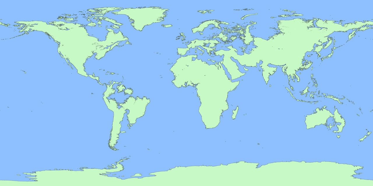 World Map If Sea Levels Rise.The World If Sea Level Rise 100 M Also See How Continents Will