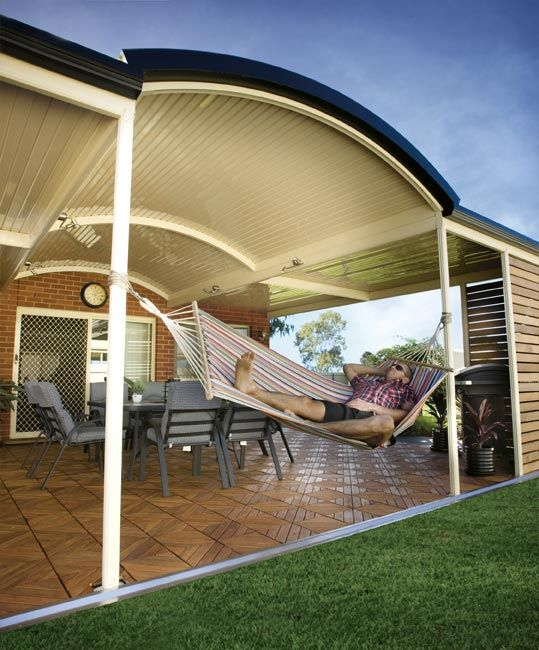 Stratco Outback Curved Roof - Awnings, Carports, Pergolas ...