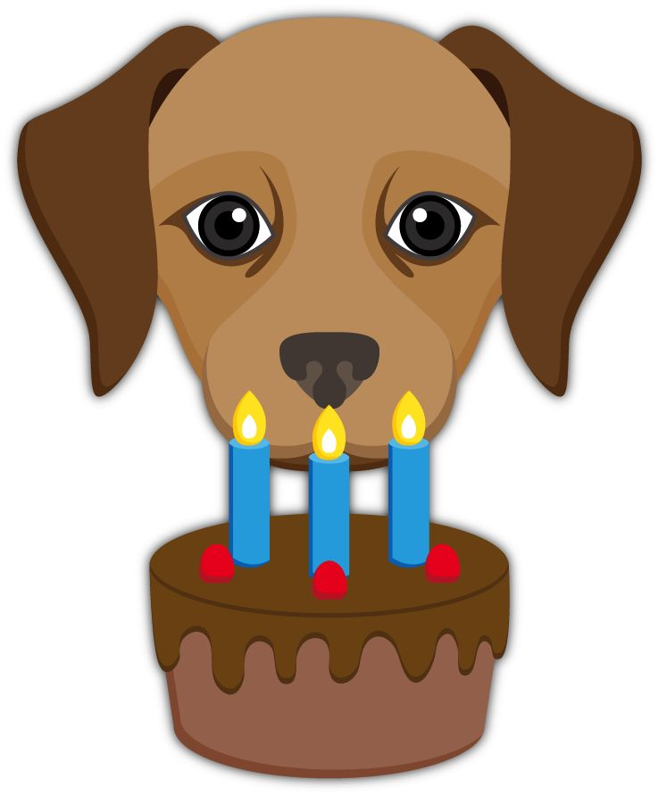 Birthday Cake Emoji Labrador Retriever Emoji Stickers For Imessage
