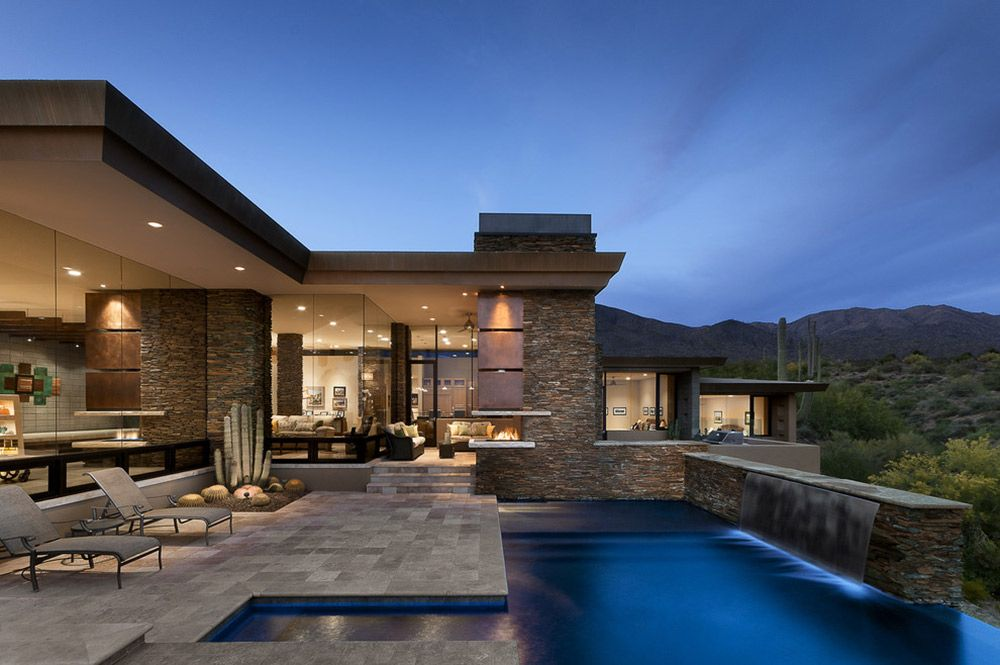 Modern Home With Mountain Views In Scottsdale Arizona Architecture Architecture House Modern House Design