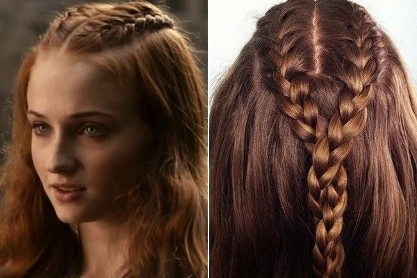 sansa's - double french braided