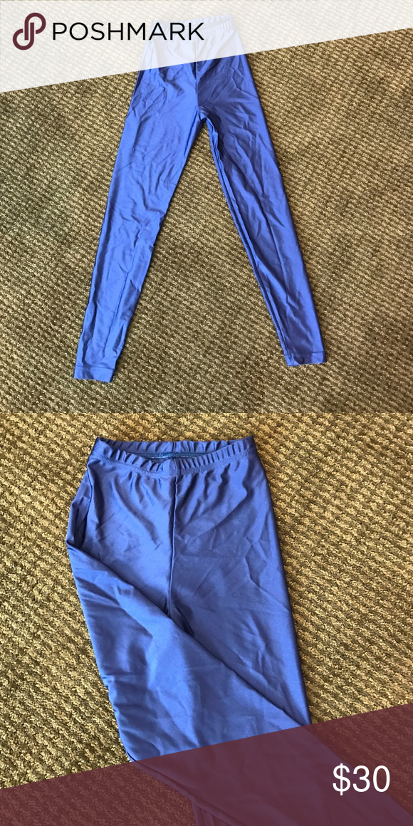 American apparel nylon tricot leggings American apparel nylon tricot leggings shiny navy blue American Apparel Pants Leggings
