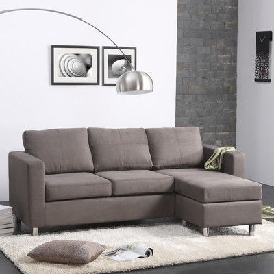 small spaces sectional sofa bedrooms pinterest small spaces rh pinterest com Small Contemporary Sectional Sofas Miami Small White Sectional Sofa