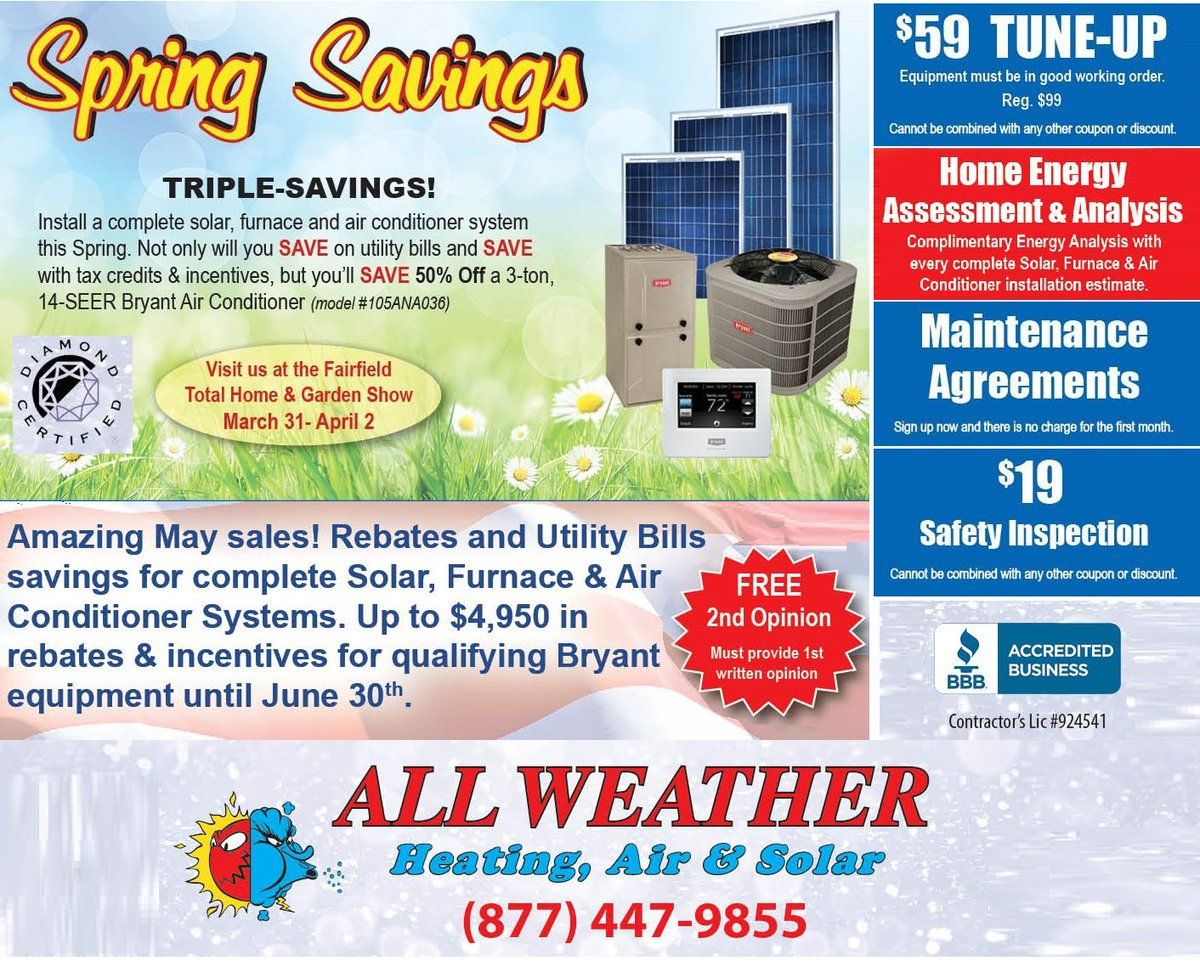 April May Spring Sale Vacaville California Hvac Tweets With