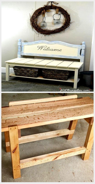 DIY Twin Headboard Bench With Storage , Bench DIY