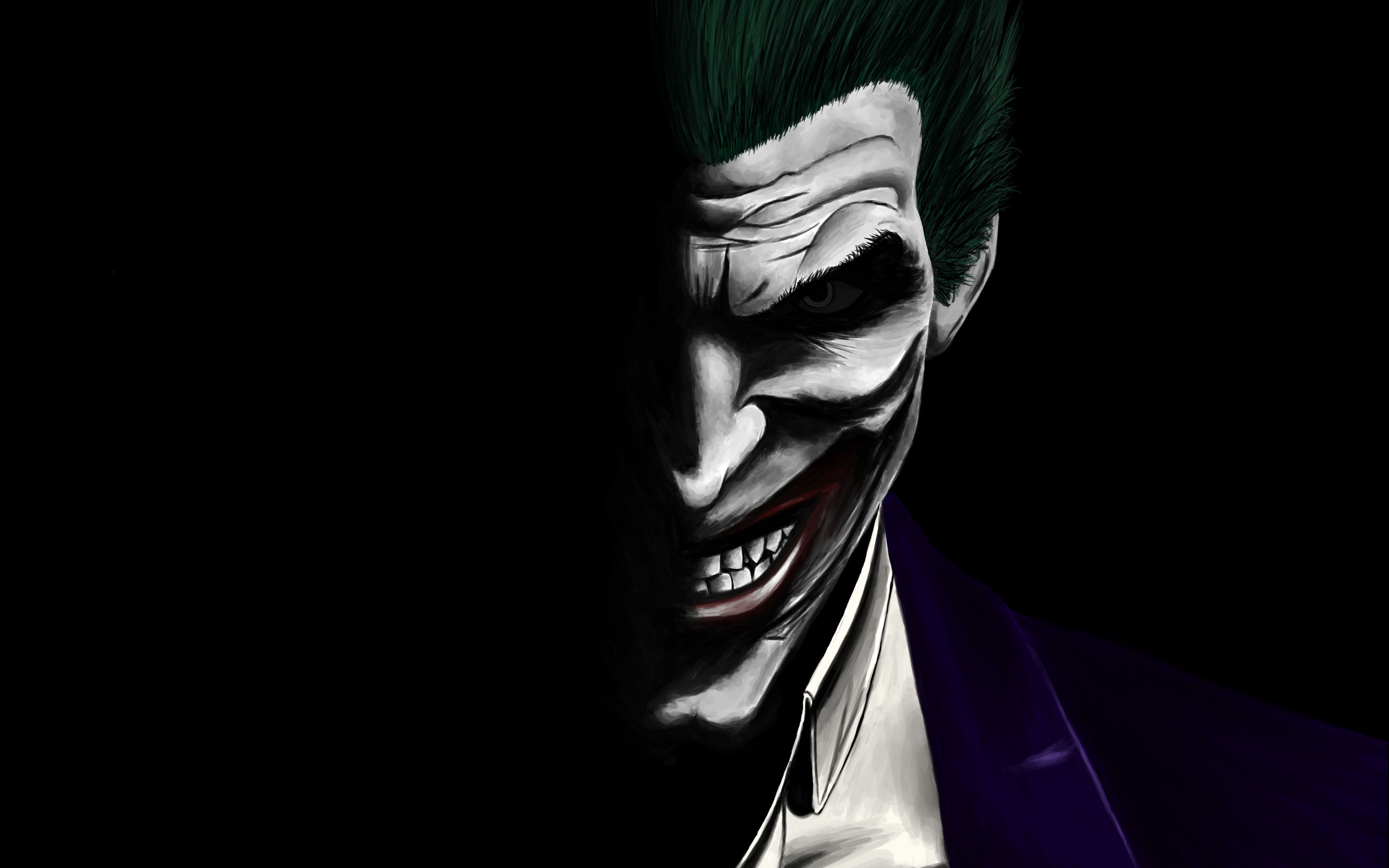 Download 3840x2400 Wallpaper Joker Dark Dc Comics Villain Artwork 4k Ultra Hd 16 10 Widescreen 3840x2400 Hd Joker Wallpapers Joker Images Joker Artwork