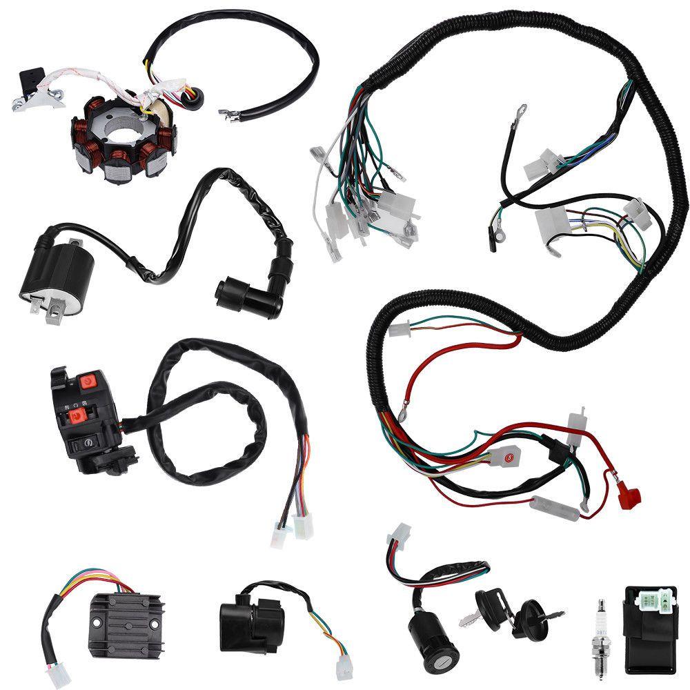 Electrics Wiring Harness Set For Atv Quad 150 200 250 300cc