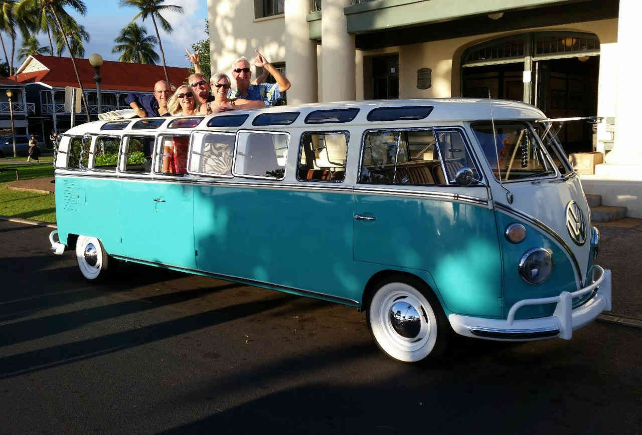 Hipster wedding vw bus limo