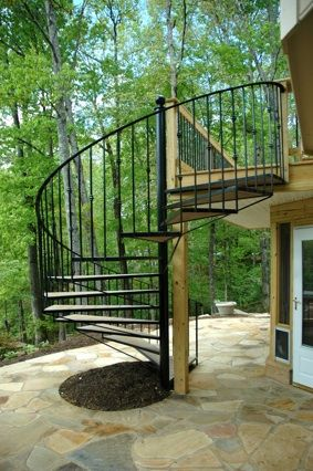 Stairs And Spiral Stairs Atlanta Decks And Fences From Atlanta | External Spiral Staircase For Sale | Stair Treads | Staircase Ideas | Steel Spiral | Metal Spiral | Staircase Railings