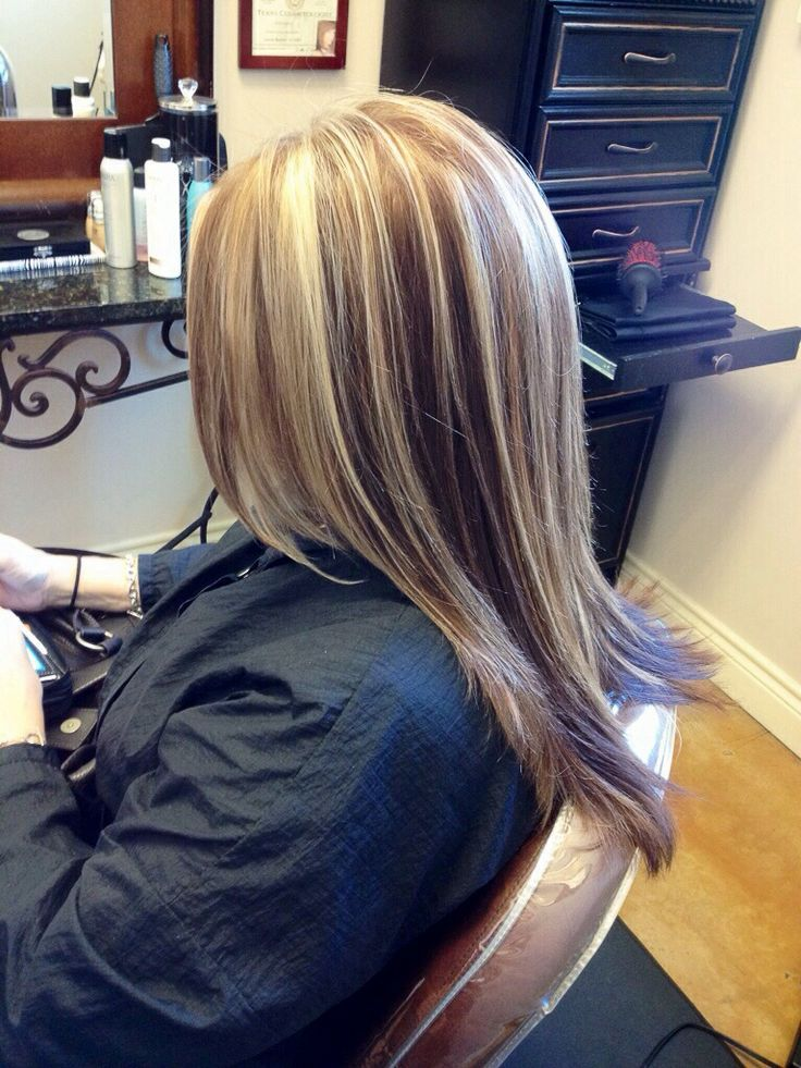 2 Tone Blonde Highlights Color Blonde Bold Highlights Hair