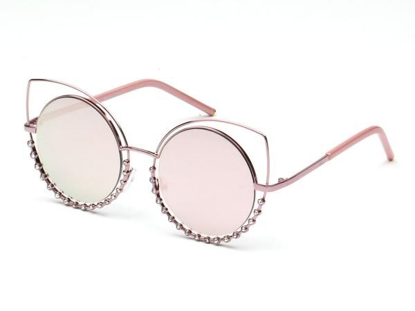 1ddc6f487b Designer Pearl-Studded Cut-Out cat eye Sunglasses Now available at  CramiloSunglasses.com