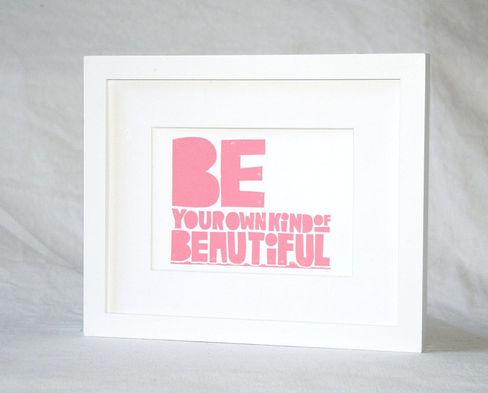 Quotes for girlsbe your own kind of beautiful wall art teenage