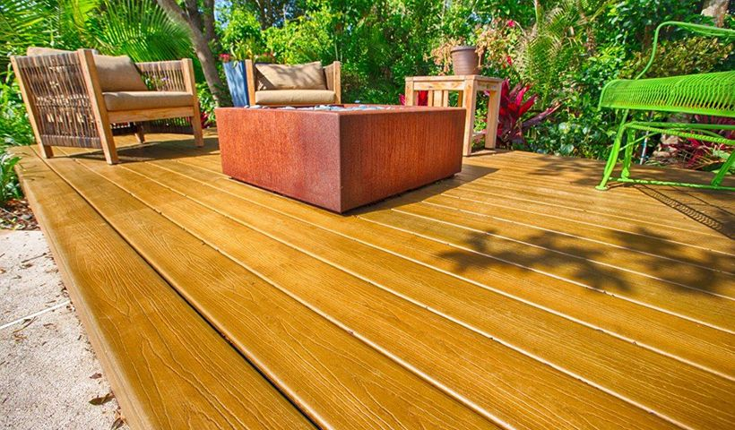 Build a freestanding deck and add a fire pit as the focal point to create a