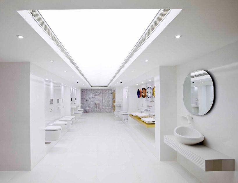 Provocative Modern Architecture Approach For Bathroom Showroom In India Bathroom Inspiration Modern Bathroom Showrooms Bathroom Accessories Luxury