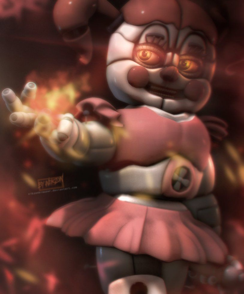 Five Nights At Freddy S Circus Baby Wallpaper Sfm Sister Location Baby By Nikzonkrauser Sister Location Baby Sister Location Fnaf Sister Location