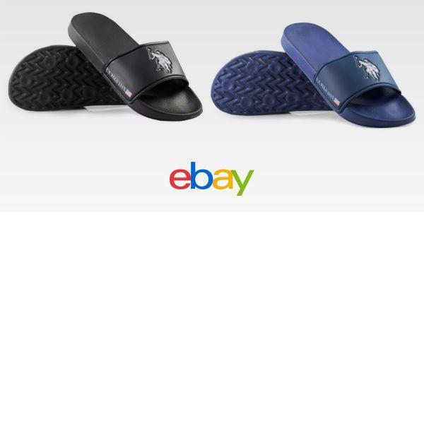 fed7bb748d5c9b U.S. Polo Assn. Men S Premium Foot-Bed Slide Sandal Flip Flop Comfort Fit  Nwt