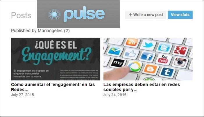 Cómo Publicar En Linkedin Pulse Sin Listas De Espera Mariángeles Berna Marca Y Redes Redes Sociales Marketing Empresas