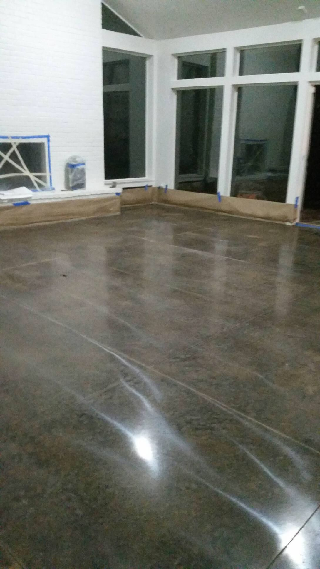 Residential Diamond Polished Concrete In Dallas Tx Stained Floors Hardwood